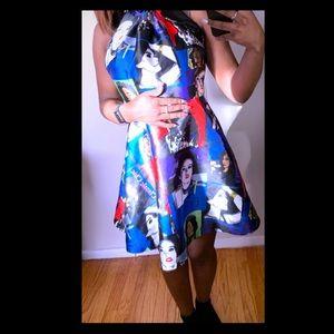 Dresses & Skirts - Colorful Backless Skater Dress